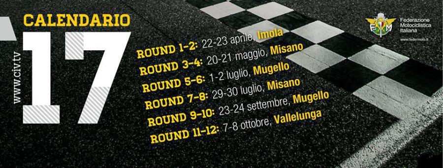 Civ Calendario.Ag Motorsport Italia 2017 Calendario Civ
