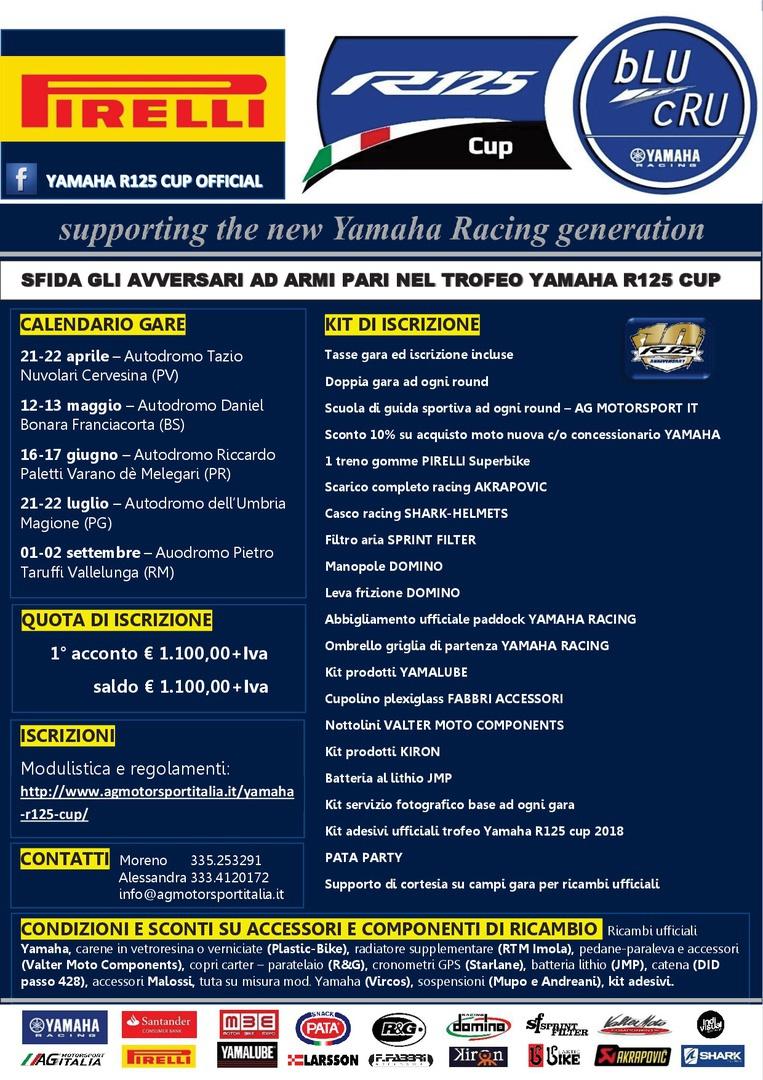 Autodromo Varano Calendario 2020.Ag Motorsport Italia Yamaha R125 Cup